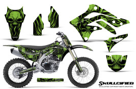 KAWASAKI KXF450 KX450F 12-15 CREATORX GRAPHICS KIT DECALS SKULLCIFIED GNP - $257.35