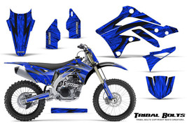 KAWASAKI KXF450 KX450F 12-15 CREATORX GRAPHICS KIT DECALS TRIBAL BOLTS BLNP - $257.35
