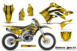 KAWASAKI KXF450 KX450F 12-15 CREATORX GRAPHICS KIT DECALS TRIBAL BOLTS YNP - $257.35
