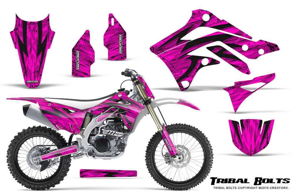 Primary image for KAWASAKI KXF450 KX450F 12-15 CREATORX GRAPHICS KIT DECALS TRIBAL BOLTS PNP