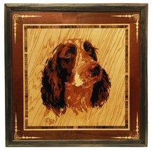 Cocker Spaniel dog portrait custom pet portrait wood art wall decor wood... - $150.00