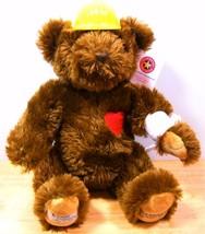 "LE 2010 Choco 16"" Herrington Hard Hat Boo Boo Teddy Bear CHOC - $46.46"