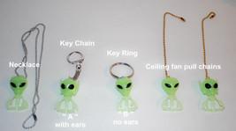 Little Green Men Aliens , chain pulls,necklace ... - $4.95