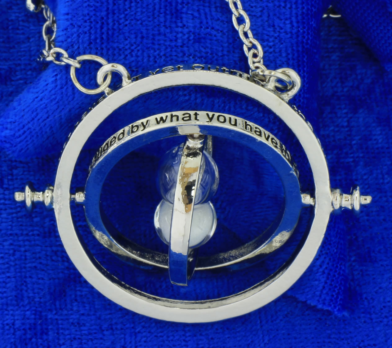 Time Turner Necklace Silver/White Hermione Granger's Chain Length Choice