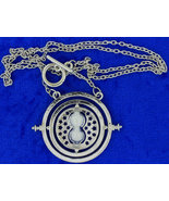 Time Turner Necklace Silver/White Hermione Gran... - $3.99 - $5.69