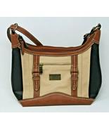 B.O.C. Concept Purse Shoulder Bag Brown Black Cream Double Handled Women's - $21.37