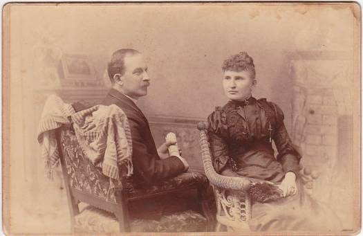 Mr. & Mrs. W.P. Ayer Cabinet Card Photo (1893)