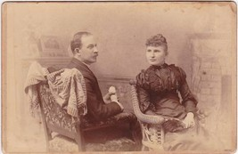Mr. & Mrs. W.P. Ayer Cabinet Card Photo (1893) - $17.50