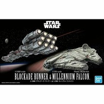 Bandai Star Wars 1/1000 Blockade Runner & 1/350 Millennium Falcon Model ... - $22.99