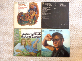 COLLECTION OF 4 JOHNNY CASH LP ALBUMS (#2017) All 4 by Columbia Records... - $37.99