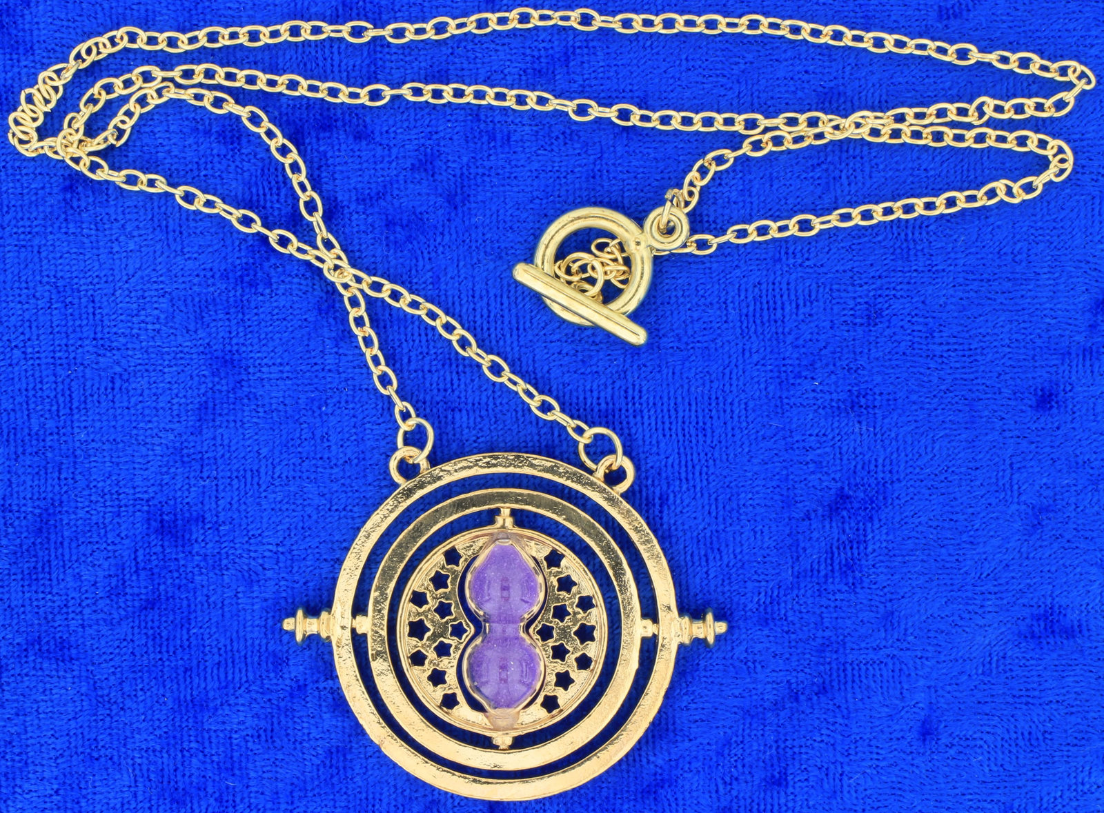 Time turner necklace purple