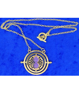 Time Turner Necklace Gold/Purple Hermione Granger's Chain Length Choice - $3.99+