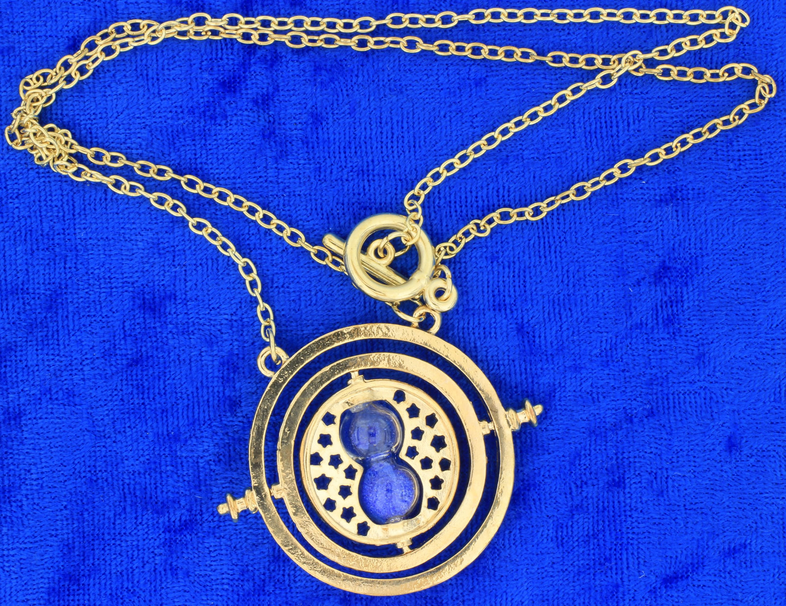 Time Turner Necklace Gold/Blue Hermione Granger's Chain Length Choice