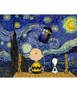 Peanuts stary night cross stitch pattern thumbtall