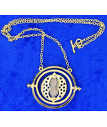 Time Turner Necklace Gold/Beige Hermione Granger's Chain Length Choice - $3.99+