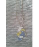 Smurfette Silvertone Pendant Necklace  - $14.99