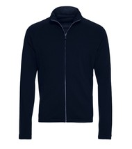 Z ZEGNA Italy Men's Navy Blue Techmerino 100% Wool Full Zip Sweater Size XL - $350.63