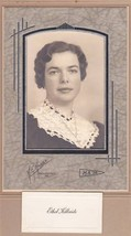 Ethel Kilbride Cabinet Photo - Millinocket, Maine (1939) - $17.50