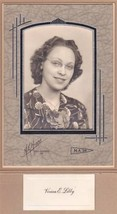 Vivian E. Libby Cabinet Photo - Millinocket, Maine (1939) - $17.50