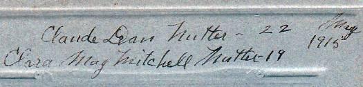 Claude Deane & Clara Mitchell Nutter Cabinet Photo - Machias, Maine