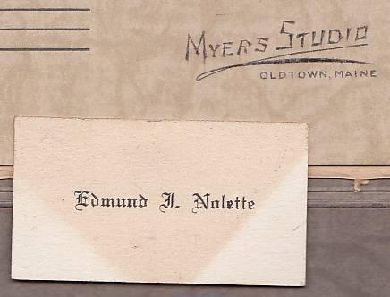 Edmund J. Nolette Cabinet Photo - Old Town, Maine