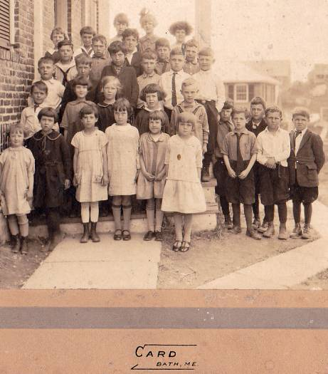 Bath, Maine Grade School Cabinet Photo, circa 1910