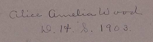 Alice Amelia Wood Photo - Deering High School Portland Maine 1903