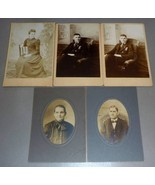 Wendell Peaco Family (5) Cabinet Photos - Emma, Elsie, Horatio (Maine) - $87.50