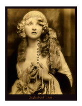 Ziegfield Girl Vintage 1920 Beautiful 13 x 10 inch Pinup Giclee CANVAS P... - $19.95