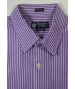 J. CREW Habadashery M 15-15.5 Rich Purple White Stripe Shirt RARE - $99.99