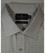 BLACK BROWN 1826 18 x 34/35 Rich White Brown Plaid Gingham Dress Shirt - $99.99