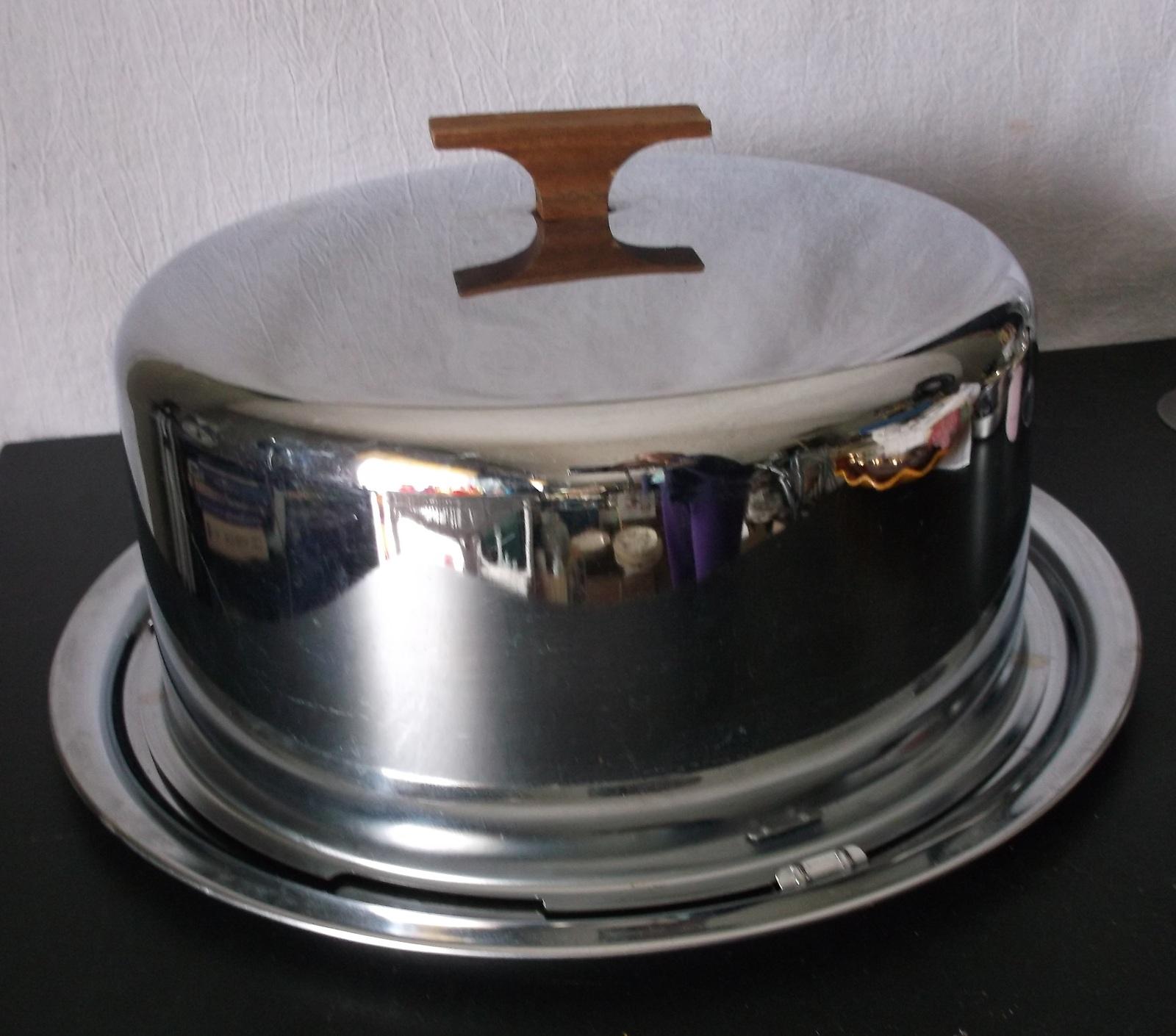 Vintage Chrome Cake Carrier