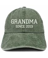 Trendy Apparel Grandma Since 2019 Embroidered Washed Pigment Dyed Cap - ... - $18.99