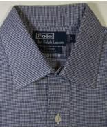 POLO RALPH LAUREN Curham Lg Rich Navy White Houndstooth Dress Shirt - $99.99