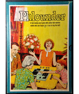 Phlounder Fast Word Game Match Wit & Finger 3M Vintage Board Game 1962 - $19.95
