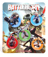 Battleborn Collectible Badge Pin SET x5 - Montana, Phoebe, Thorn, Rath, ... - $33.99