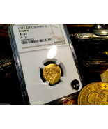 """COLOMBIA 1722-32 """"ONLY 2 KNOWN TIED FINEST"""" 2 ESCUDOS NGC 45 PHILIP V GO... - $2,450.00"""