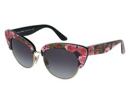 DOLCE & GABBANA PRINT FAMILY Roses 4277 Black Pink Cat Eye Sunglasses DG... - $155.00