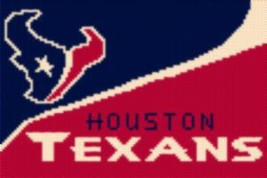 Latch Hook Rug Pattern Chart: HOUSTON TEXANS WAVE -EMAIL2u - $5.75
