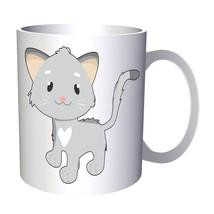 Cat Smiley Animal Baby 11oz Mug o554 - $203,52 MXN