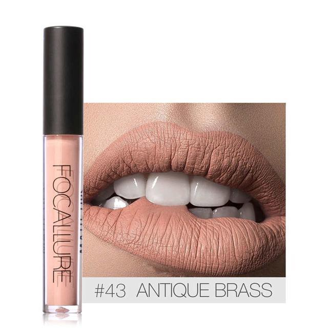 FOCALLURE Brand Liquid Lipstick Matte Waterproof Lips Makeup Cosmetic Nude Serie