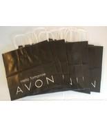 Avon 2009 Paper Tote Shopping Bags Set of 10 Black & White Hello Tomorrow - $9.45