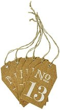 Kate Aspen Burlap Table Numbers: 13 to 18 - $15.04