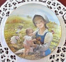 AUTUMNS BLESSING Juan Ferrandiz Mother Child 2nd Issue Beautiful Bounty Plate - $11.00