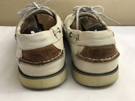 M Zapatos 2 Cream 8 Top Sperry Defender Nauticus Eye Shoes Men's Boat Sider 5 SZ 4Yw76