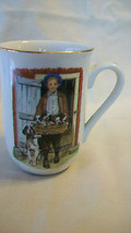NORMAN ROCKWELL PUPPY LOVE COFFEE MUG, FROM NORMAN ROCKWELL MUSEUM - $24.74