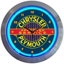 "Chrysler Plymouth Licensed Neon Clock 15""x15"" - $69.00"