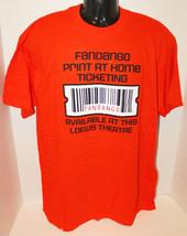 LOEWS THEATRE MEN L ORANGE COTTON FANDANGO EMPLOYEE PROMO SHIRT LARGE CL... - $7.46