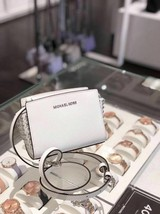 NWT Michael Kors Selma Stud Mini Saffiano Leather Crossbody Bag Optic White - $89.09