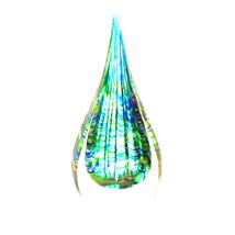 Peacock Inspired Art Glass Sculpture - $26.45